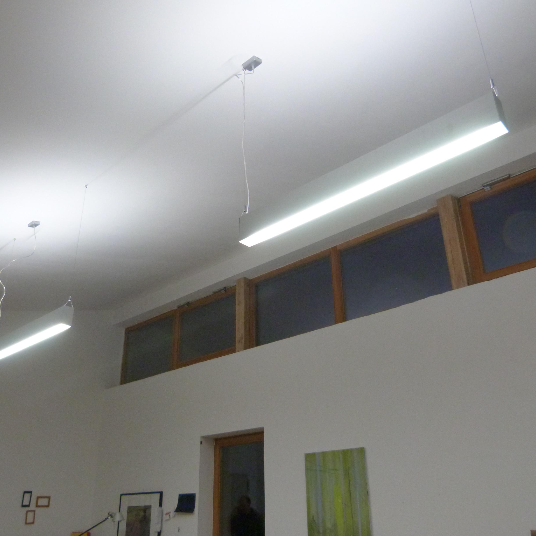 neue leuchten f r das atelier von alexander stern und f r studio h8 licht freude. Black Bedroom Furniture Sets. Home Design Ideas