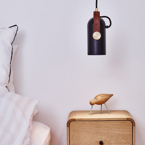 CARRONADE pendant black straight