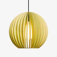 Holz-Lampe-AION-grün-Textilkabel-schwarz