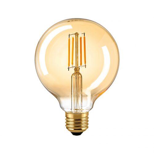 Sigor LED Filament Globe 95 gold