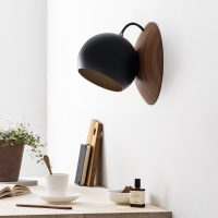 ORBIT-wooden-wall-lamp-made-of-walnut-black-shade-magnetic